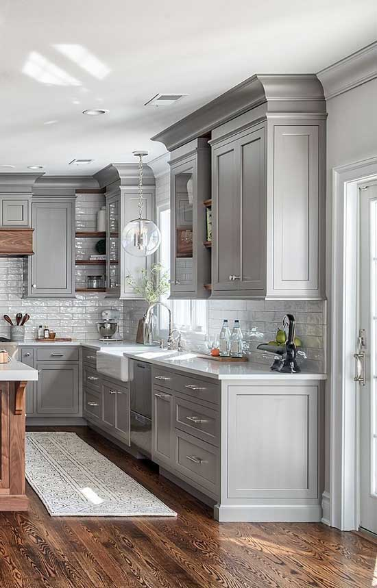 25 Best Gray Kitchen Cabinets Ideas for 2020 | Decor Home ...