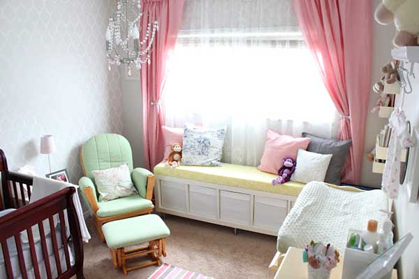 DIY IKEA storage bench for teen girls bedroom #diy #storage #bedroom #teen #girl #ideas
