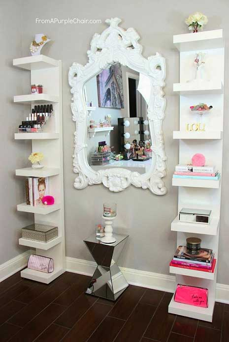 Mirror in the middle #makeup #girl #teen #bedroom #decor