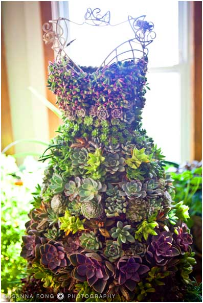 Dress Made Of Succulents. #succulent #succulentlove #succulents #decorhomeideas