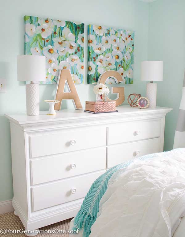 Turqouise girl bedroom decor #turquoise #bedroom #teen #girl #decor