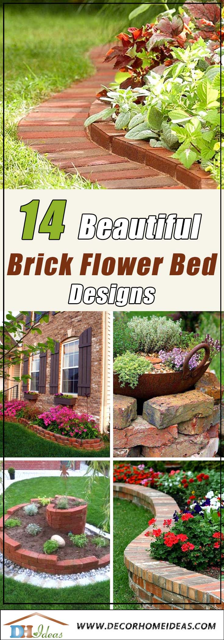 Image of: 14 Brick Flower Bed Design Ideas You Can Replicate Instantly Decor Home Ideas