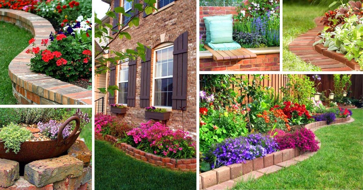 14 Brick Flower Bed Design Ideas You Can Replicate