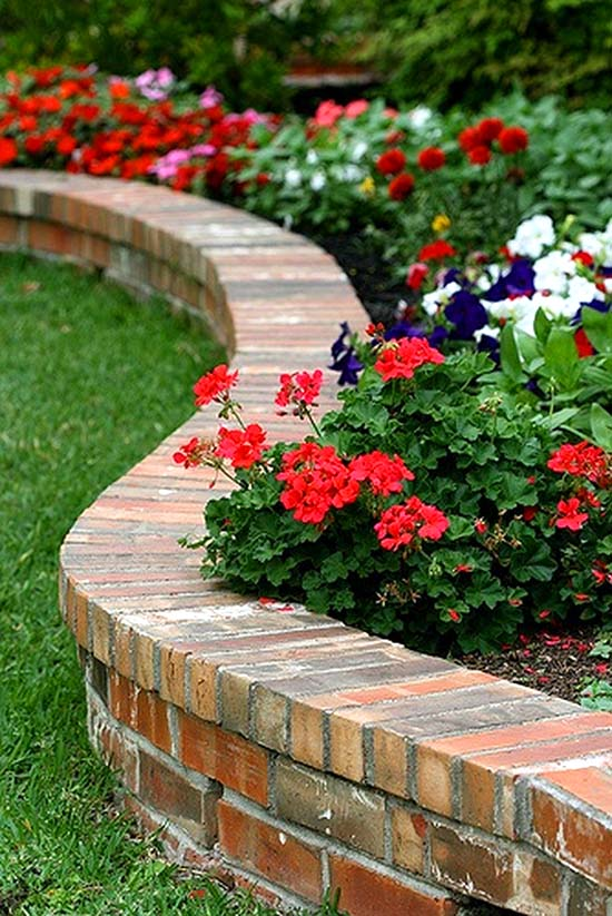 14 Brick Flower Bed Design Ideas You Can Replicate Instantly
