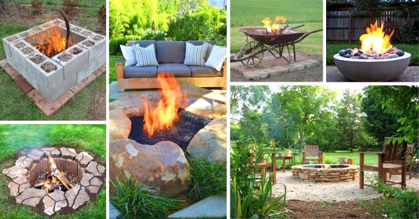 35 Best Diy Outdoor Fire Pit Ideas Super Cheap Easy