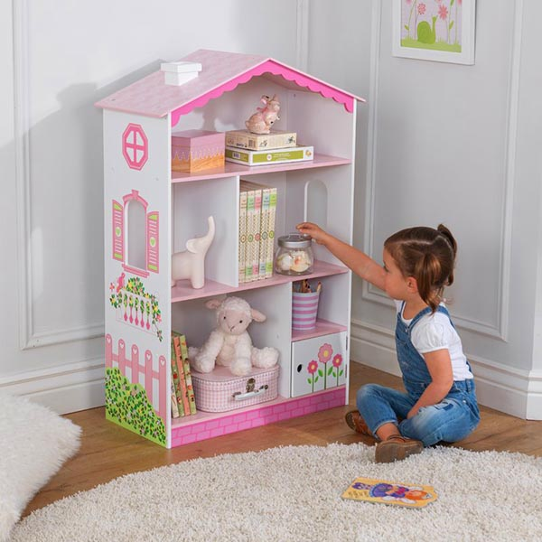 Dollhouse Cottage, Bookcase or Toy Storage #toystorage #bookcase #dollhousecottage #decorhomeideas