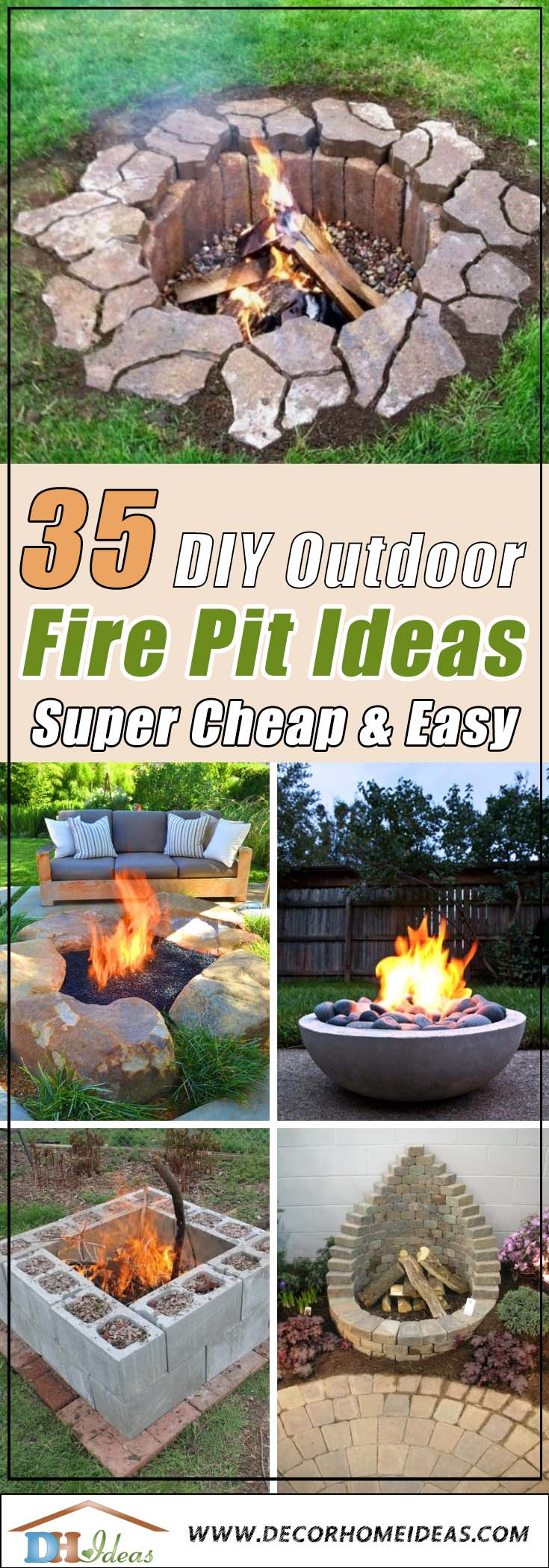 35 Best DIY Outdoor Fire Pit Ideas [ Super Cheap & Easy ... on Diy Outdoor Fire id=48220