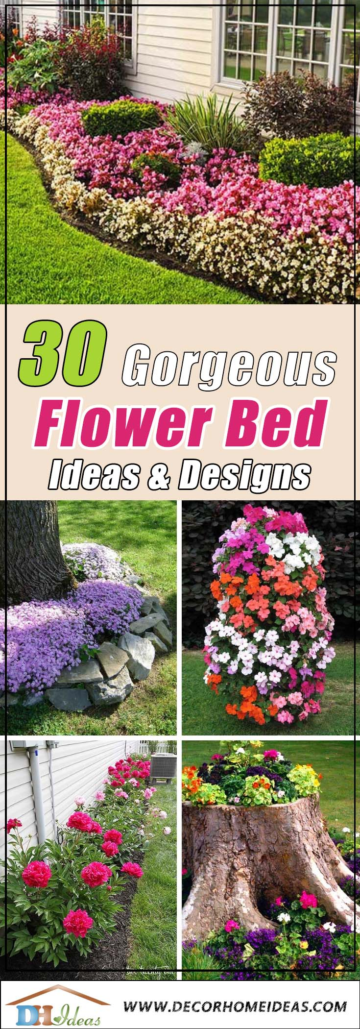 30 Gorgeous Flower Bed Ideas To Try Today | Best flower bed and flower planter ideas you can try today in your backyard or garden. #flowerbed  #gardening #decorhomeideas