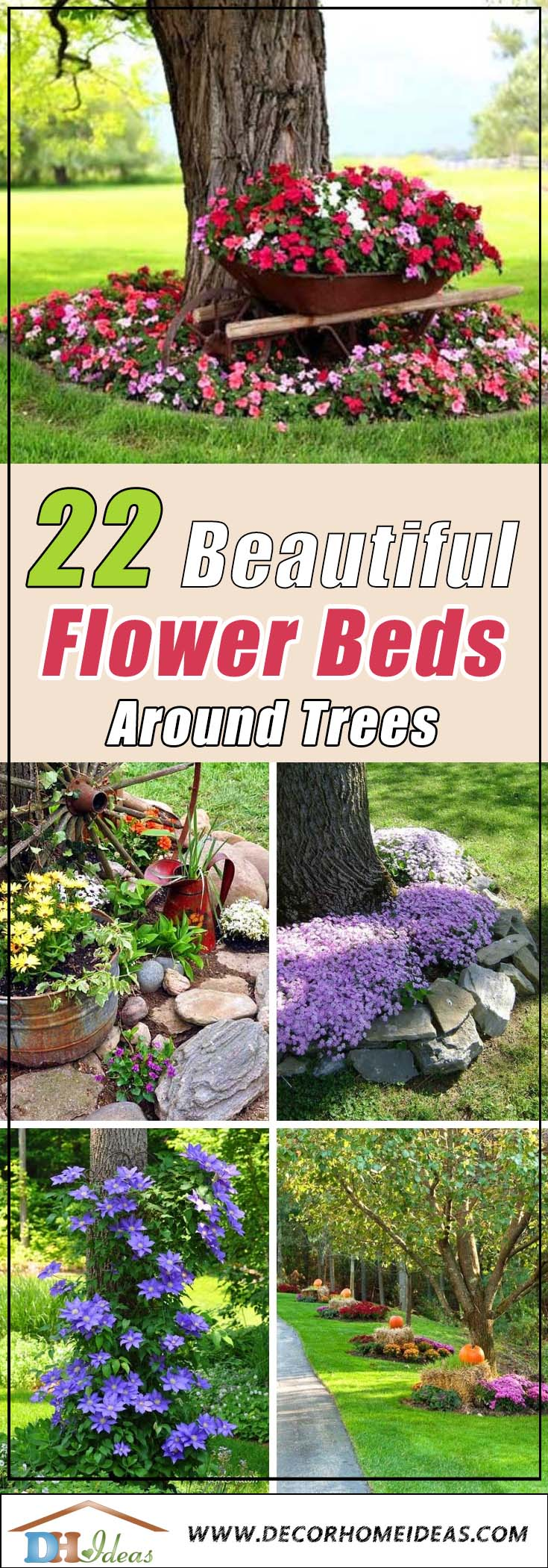 22 Beautiful Flower Beds Around Trees Decor Home Ideas
