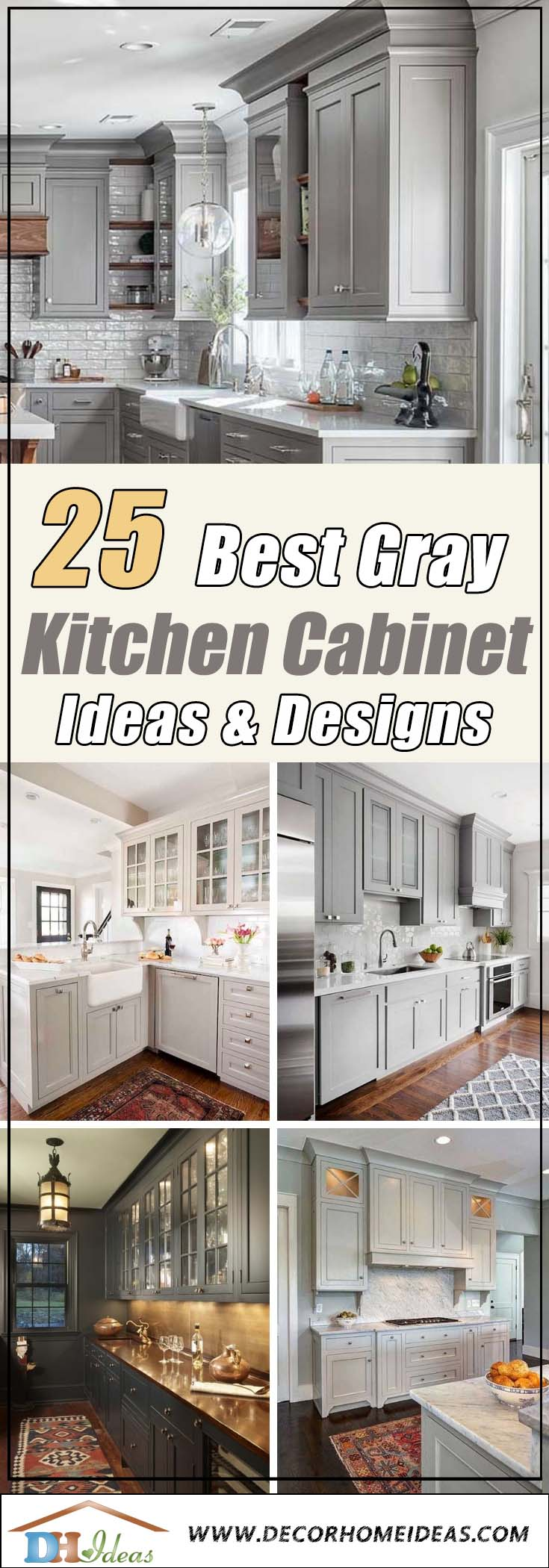 25 Best Gray Kitchen Cabinet Ideas #kitchencabinet #kitchen #gray #cabinets #homedecor #decoratingideas #homedecor