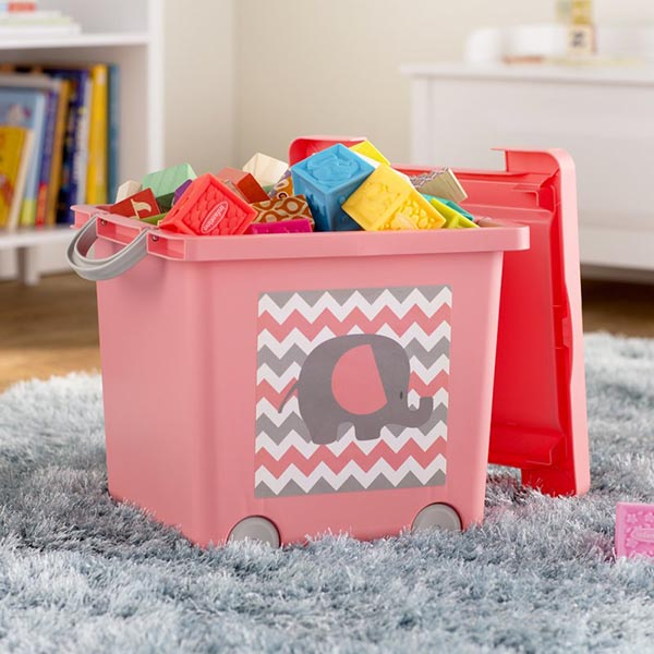 DIY Toys stacking storage from basket with lid #toystorage #organizer #basket #decorhomeideas