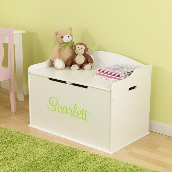 DIY Personalized Austin Vanilla Toy Box #toystorage #storage #organizer #boxstorage #decorhomeideas