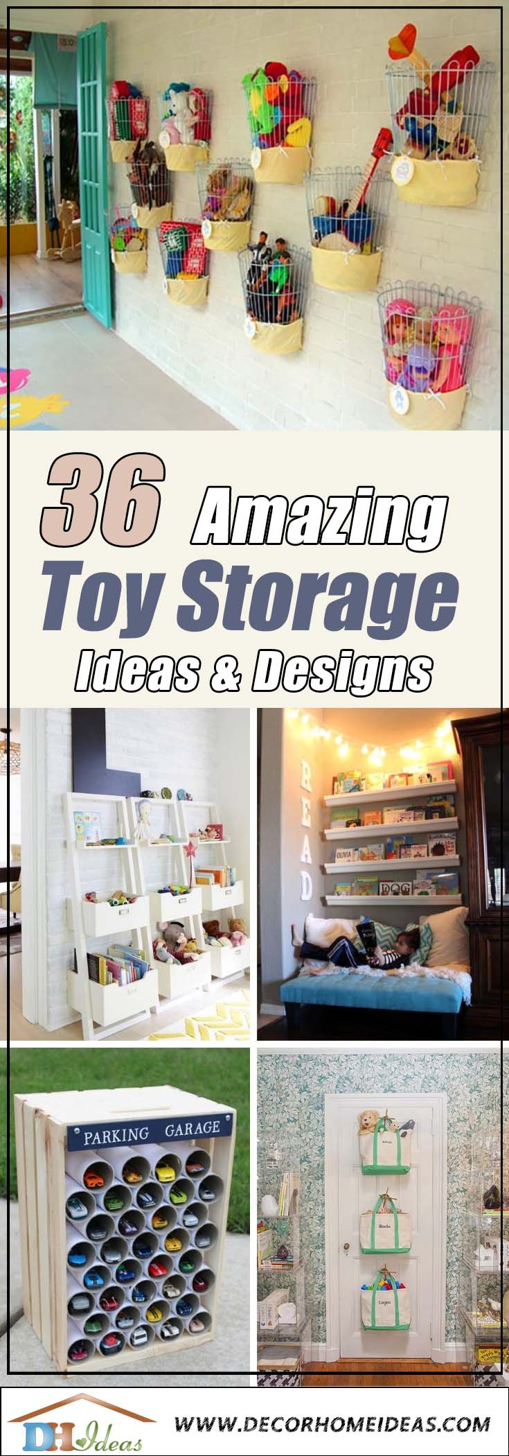 36 Best Toy Storage Ideas #toystorage #kidsroom #storage #organize #decorhomeideas