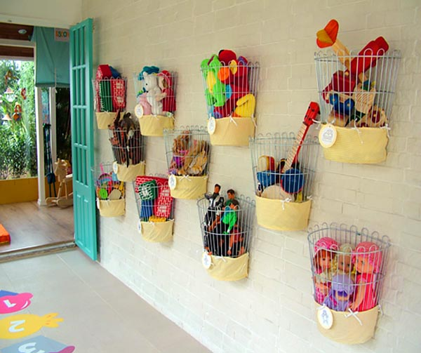 Toys organizers from baskets #toys #homedecor #storage #decorhomeideas