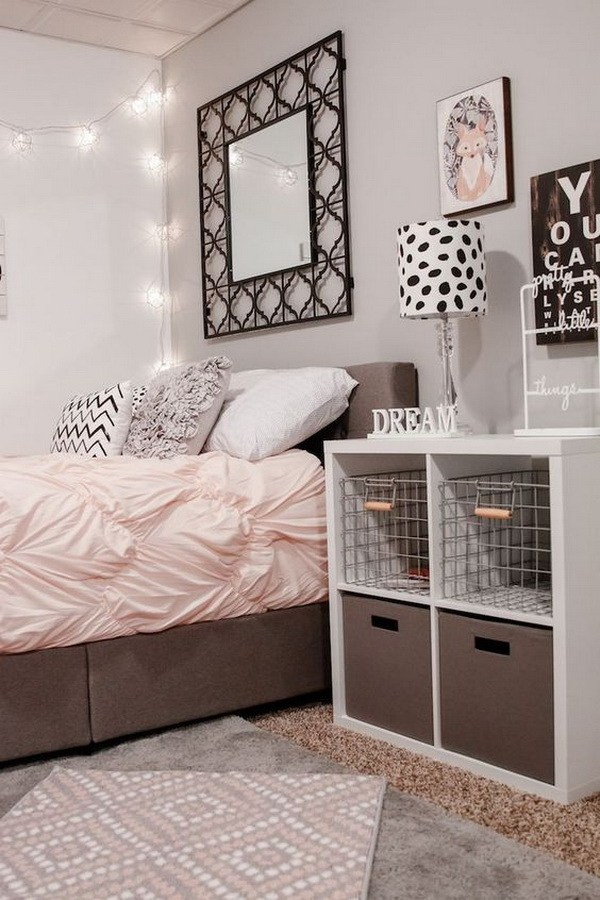 Brown beige teenage bedroom #teengirlbedroom #girlbedroom #teenbedroom #bedroom #homedecor #decorhomeideas