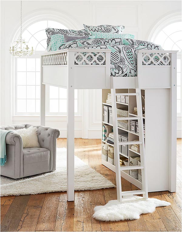 Bed and bookcase in one #teengirlbedroom #girlbedroom #teenbedroom #bedroom #homedecor #decorhomeideas