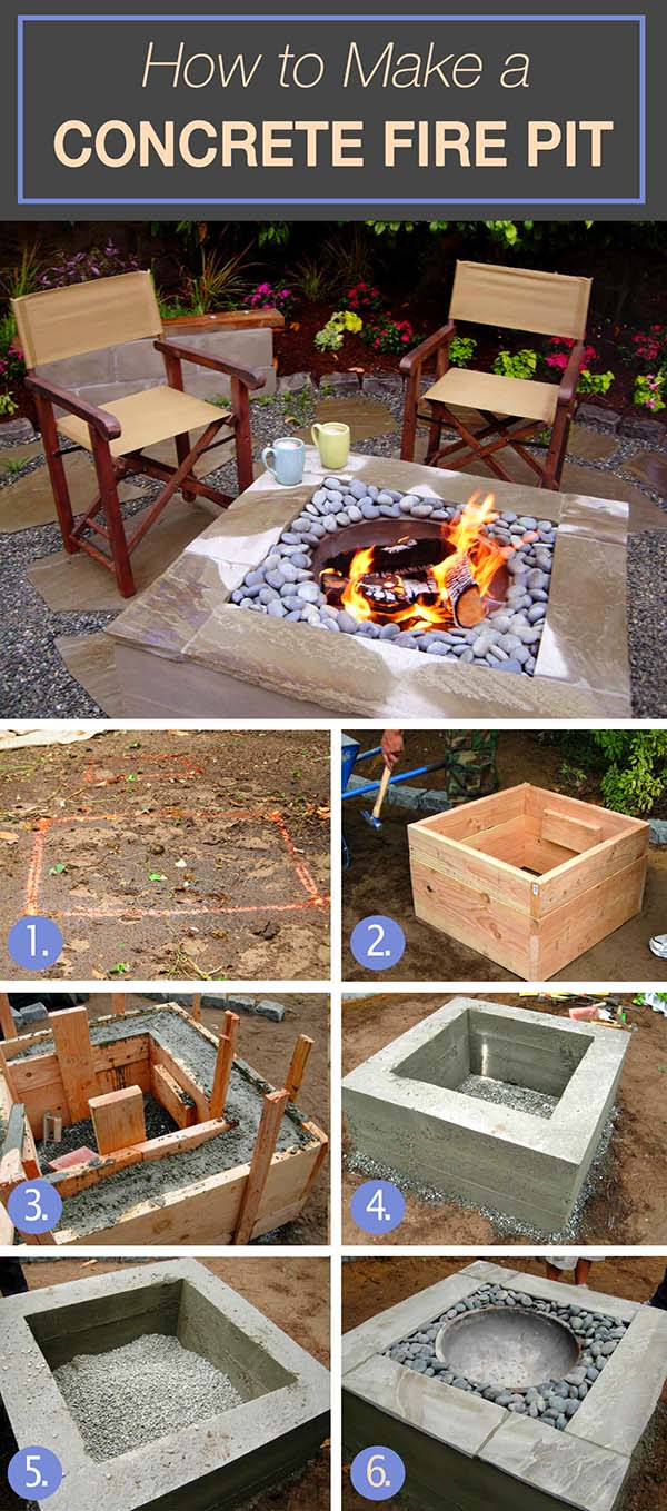 How To Build Raised Fire Pit #firepit #firepitideas #diy #garden #decorhomeideas