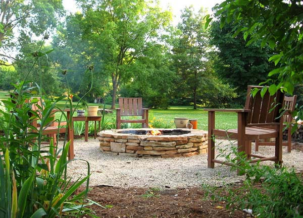 Build Round Fire Pit With Flagstones #firepit #firepitideas #diy #garden #decorhomeideas