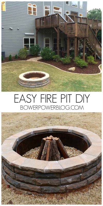 35 Best DIY Outdoor Fire Pit Ideas [ Super Cheap & Easy ...