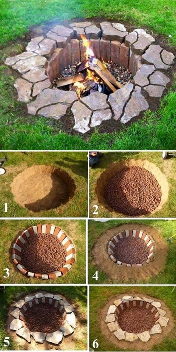 DIY In-Ground Fire Pit #firepit #firepitideas #diy #garden #decorhomeideas