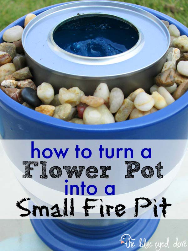 DIY Small Gas Fire Pit From Flower Pot #firepit #firepitideas #diy #garden #decorhomeideas