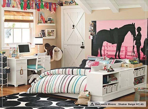 Horse themed teenage girl bedroom idea #teengirlbedroom #girlbedroom #teenbedroom #bedroom #homedecor #decorhomeideas