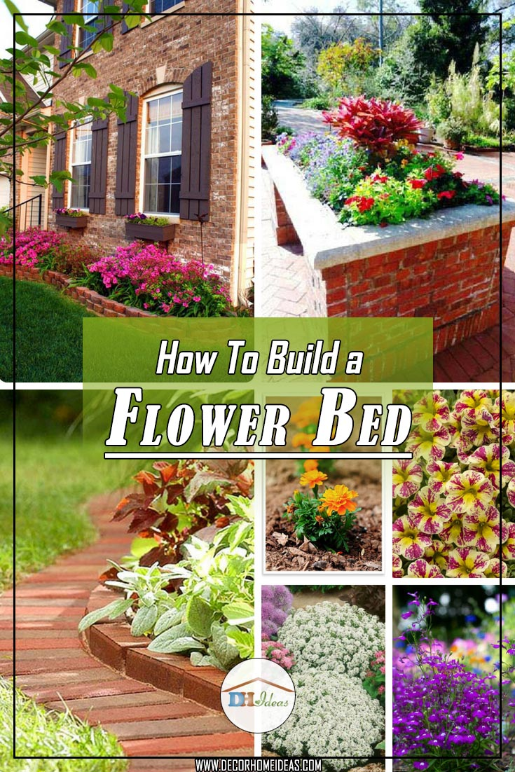 How to build a flower bed, soil, materials, flowers and tools. All the basic information to build your own flower bed #flowerbed #diy #garden #landscaping #decorhomeideas