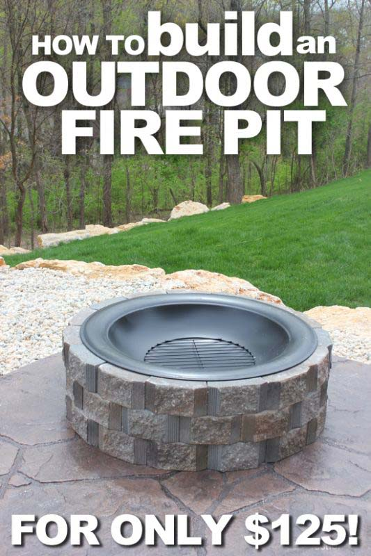 Raised Stone Fire Pit With Metal Grill Bowl #firepit #firepitideas #diy #garden #decorhomeideas