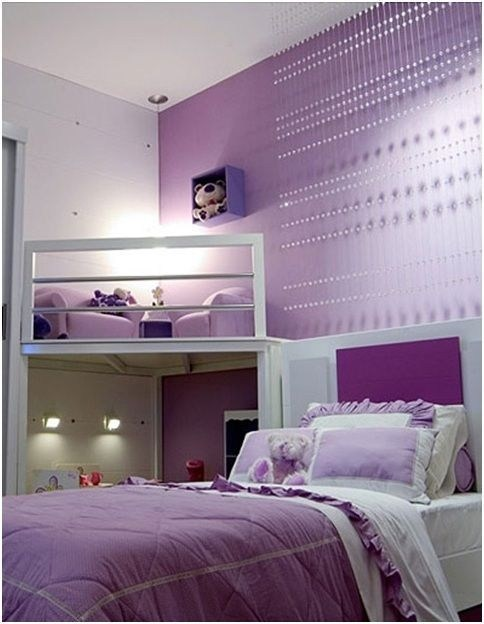 Modern purple teenage girl bedroom #purplebedroom #teenbedroom #girlbedroom #bedroom #homedecor #decorhomeideas