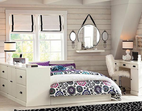 Neutral color painted teenage bedroom #teengirlbedroom #girlbedroom #teenbedroom #bedroom #homedecor #decorhomeideas