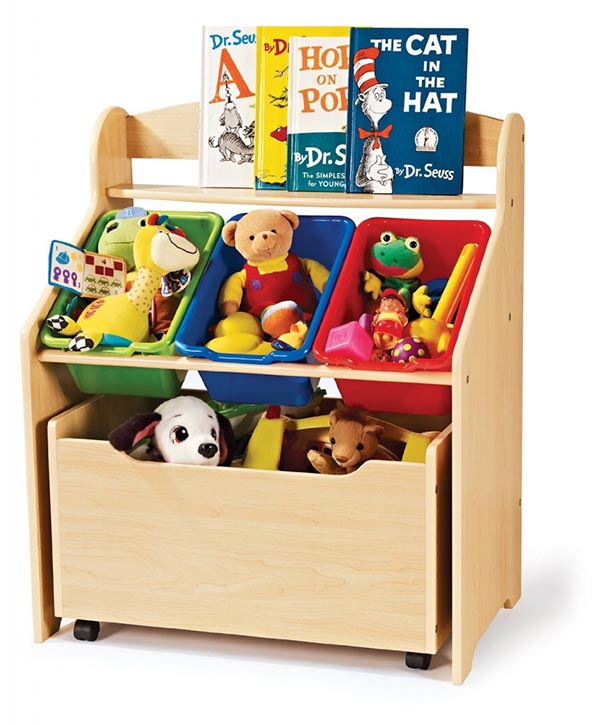 DIY Simple wooden organizer for toys and books #toystorage #bookcase #storage #decorhomeideas