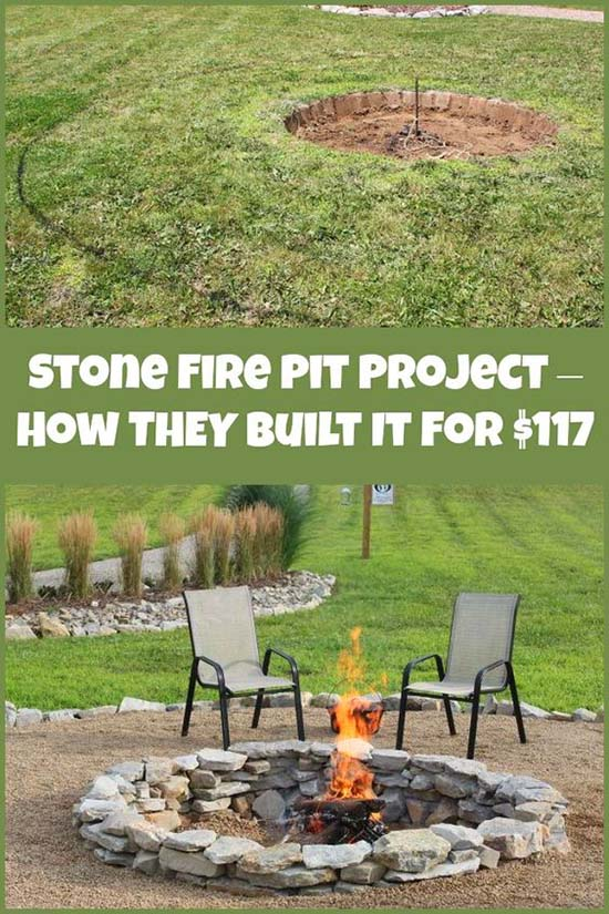 Stone Fire Pit Project Under $117 Step by Step Tutorial #firepit #firepitideas #diy #garden #decorhomeideas
