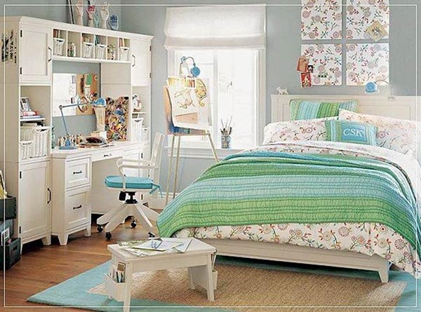 Teal teenage girl bedroom #teengirlbedroom #girlbedroom #teenbedroom #bedroom #homedecor #decorhomeideas
