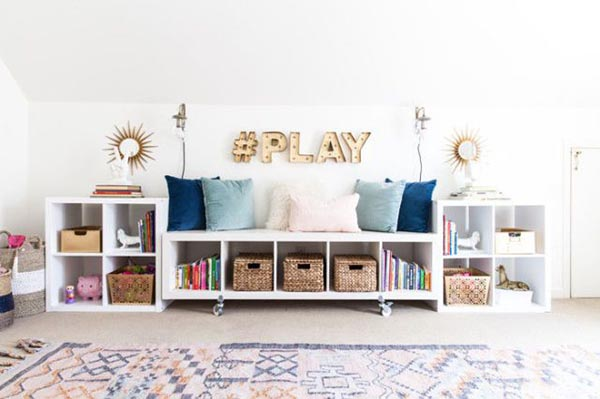 DIY Toy storage and books organizer play station #toystorage #bookcase #organizer #playstation #diy #decorhomeideas
