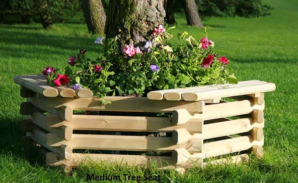 Around tree seater with flower bed inside #flowerbed #flowerpot #planter #gardens #gardenideas #gardeningtips #decorhomeideas