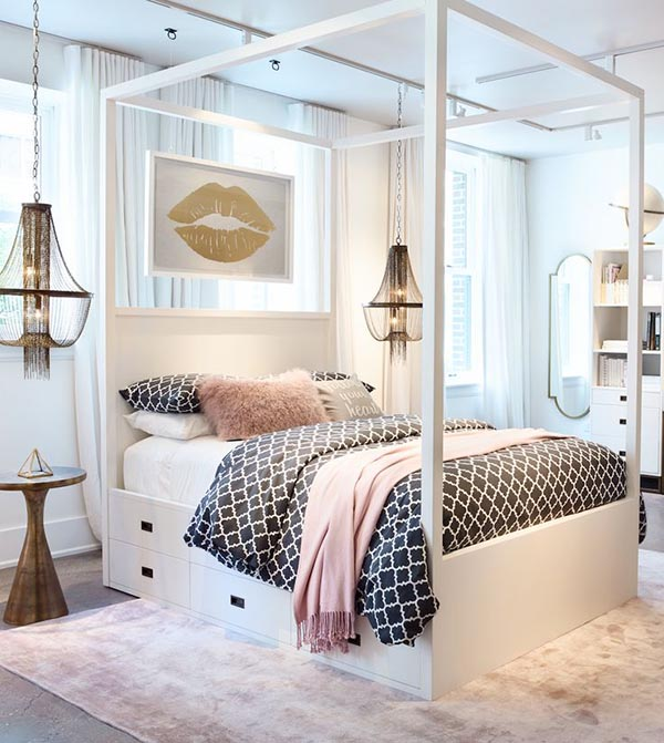 Trendy teen girl bedroom ideas #teengirlbedroom #girlbedroom #teenbedroom #bedroom #homedecor #decorhomeideas