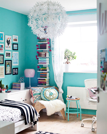 Turquoise teenage girl bedroom ideas #teengirlbedroom #girlbedroom #teenbedroom #bedroom #homedecor #decorhomeideas