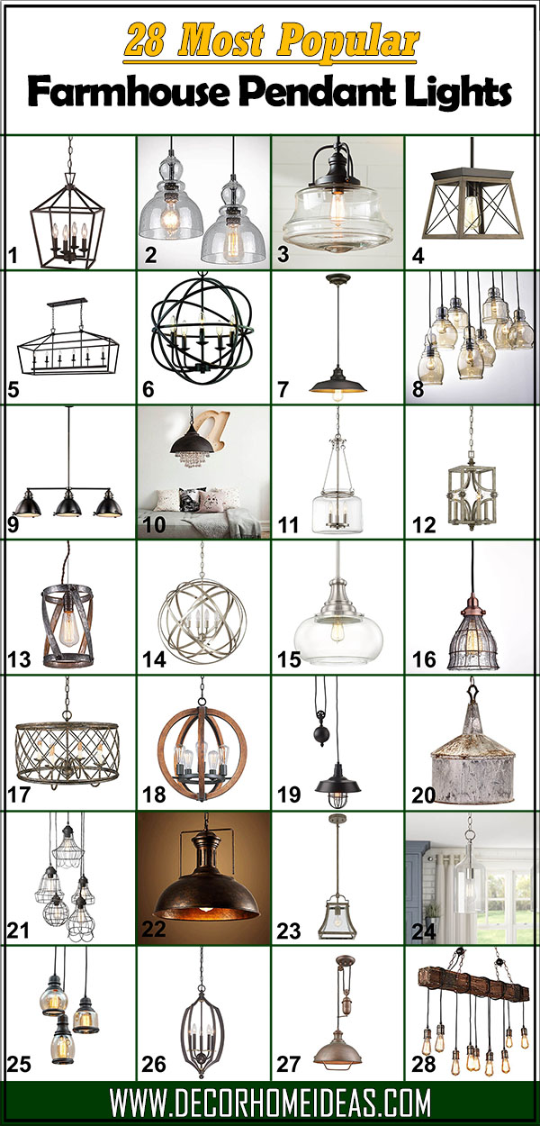 28 Most Popular Farmhouse Pendant Lights #farmhousependant #farmhouse #pendant #farmhousependantlights #decorhomeideas