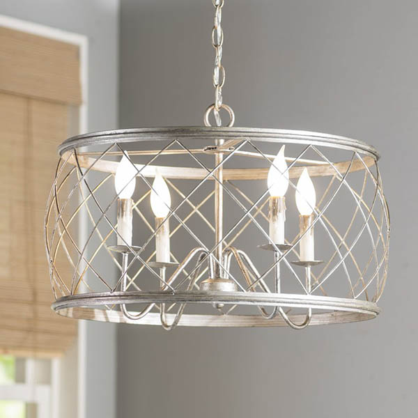 4-Light Drum Pendant #farmhousependant #farmhouse #pendant #farmhhousedecor #decorhomeideas