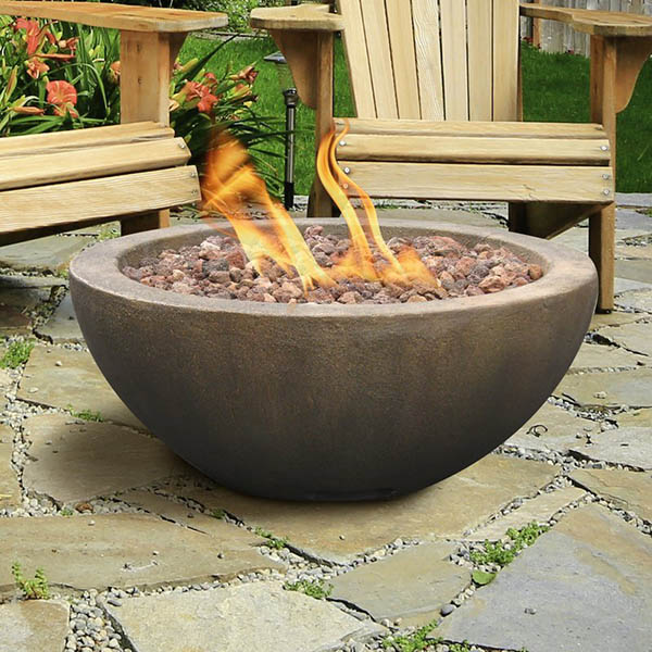 Bowl type gas fire pit #firepit #gasfirepit #propanefirepit #firepitdesign #decorhomeideas