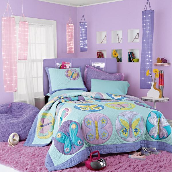 Cute purple bedroom ideas #purplebedroom #teenbedroom #girlbedroom #bedroom #homedecor #decorhomeideas