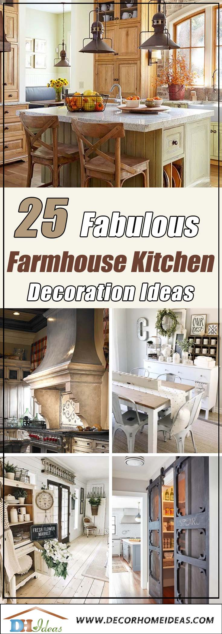 25 Farmhouse Kitchen Decor and Design #farmhousekitchen #farmhouse #farmhousedecor #kitchen #homedecor #decorhomeideas
