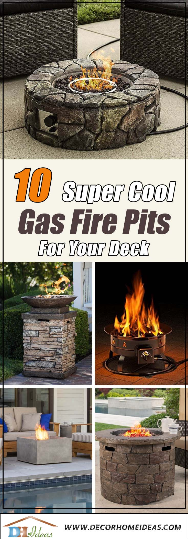 10 Best Gas Fire Pits For Deck #firepit #gasfirepit #propanefirepit #firepitdesign #decorhomeideas