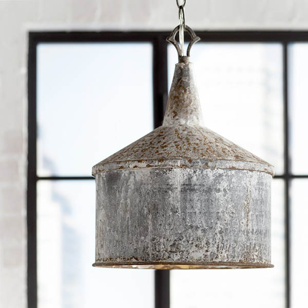 Norman Galvanized 1-Light Mini Pendant #farmhousependant #farmhouse #pendant #farmhhousedecor #decorhomeideas