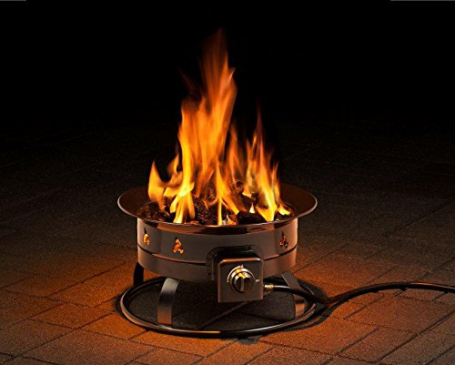 Portable gas fire pit for deck #firepit #gasfirepit #propanefirepit #firepitdesign #decorhomeideas