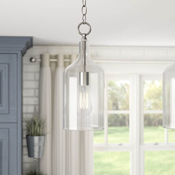 Simple clear glass farmhouse pendant #farmhousependant #farmhouse #pendant #farmhhousedecor #decorhomeideas