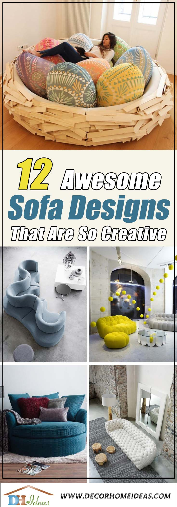 12 Creative Unforgettable Sofa Designs | Interesting sofa design incorporated in the interior design #sofa #design #furniture #interiordesign #homedecor #decorhomeideas