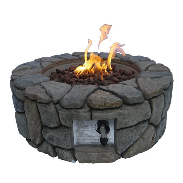 Stone gas fire pit #firepit #gasfirepit #propanefirepit #firepitdesign #decorhomeideas
