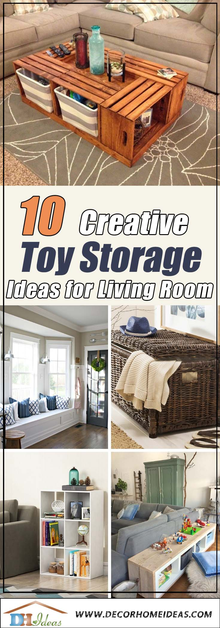 Toy Storage Ideas For Living Room #toystorage #livingroom #storage #organization #decorhomeiedeas
