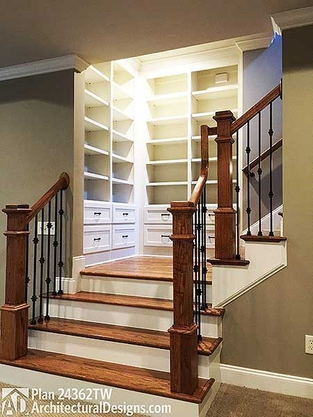 Built-in closet staircase design #staircase #stairway #stairs #staircaseideas #decorhomeideas
